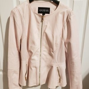 NEW Guess Peplum Pink Jacket
